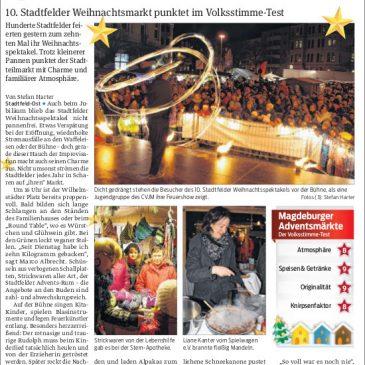 Spektakel mit Schnee und Charme – 10. Stadtfelder Weihnachtsmarkt punktet im Volksstimme-Test