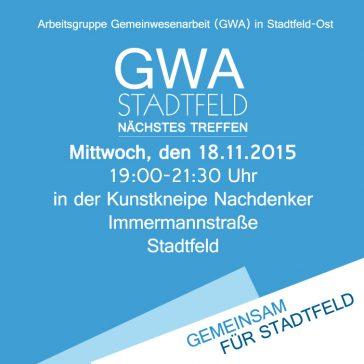 Nächstes GWA-Treffen am 18.11.2015