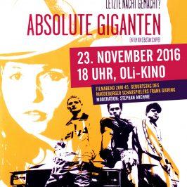 """""""Absolute Giganten"""" – Frank-Giering-Filmabend des Bürgervereins am 23.11.2016"""