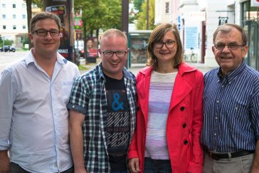 GWA Sprecher*innenkreis: v.l.n.r. Thomas Opp, Stephan Bublitz (Vorsitzender), Claudia Schulze, Dr. Klaus Kutschmann