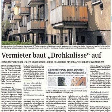 """Eines der letzten unsanierten Häuser in Stadtfeld – Vermieter baut """"Drohkulisse"""" auf"""