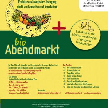 BioAbendmarkt: Lokalerzeugermarkt am 18.03.2016 auf dem Schellheimerplatz