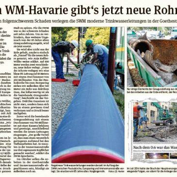 SWM verlegen moderne Trinkwasserleitungen in der Goethestraße