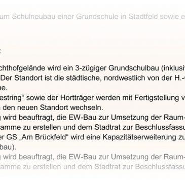 """Details zur neuen Grundschule """"Am Westring"""""""
