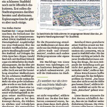 Noch viele Fragen offen zum Stadtfeld-Konzept – Verwaltung gibt kaum Antworten auf GWA-Sitzung