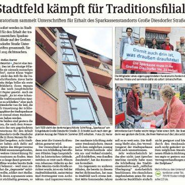 Stadtfeld kämpft für Traditionsfiliale – Kuratorium sammelt Unterschriften für Erhalt des Sparkassenstandorts