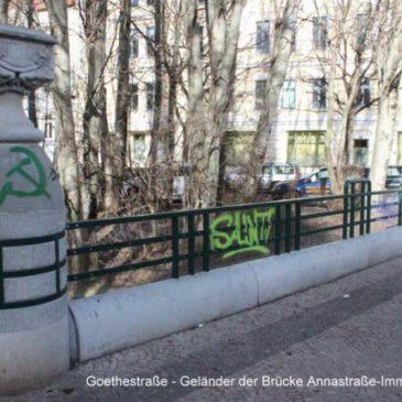 Schmierereien an Schrotebrücke – Graffiti bleiben unerkannt