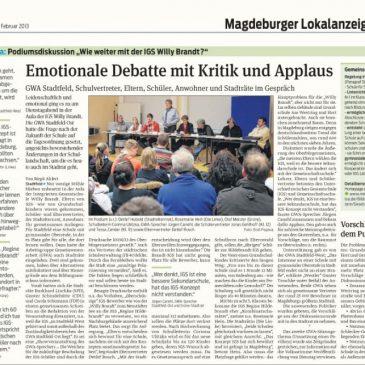 GWA Stadtfeld, Eltern, Schüler und Stadträte im Gespräch – Emotionale Debatte mit Kritik und Applaus