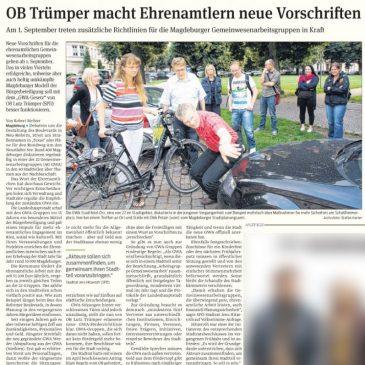 Am 1. September treten zusätzliche Richtlinien für die Magdeburger Gemeinwesenarbeitsgruppen in Kraft