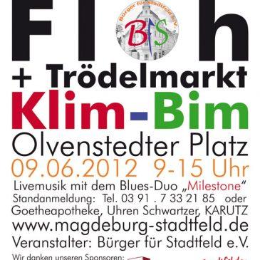 "14. Stadtfelder Flohmarkt ""Klim-Bim"" am 9. Juni"