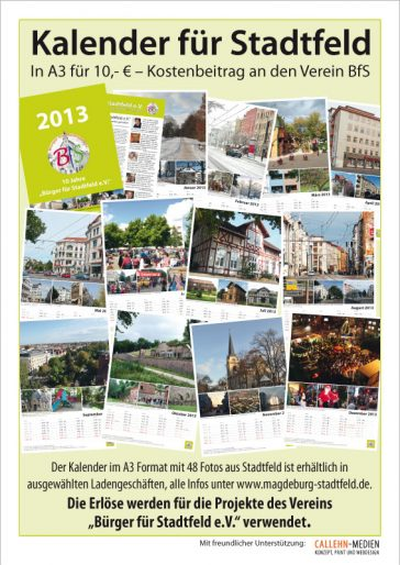 Kalender mit 48 schönen Bildern aus Stadtfeld zum 10-jährigen Bestehen des BfS