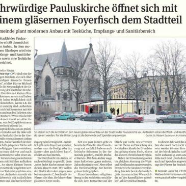 Pauluskirche öffnet sich mit einem gläsernen Foyerfisch