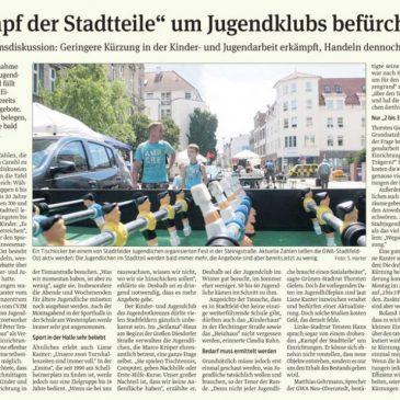 """Kampf der Stadtteile"" um Jugendklubs befürchtet"
