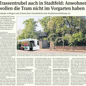 Trassentrubel auch in Stadtfeld: Anwohner wollen die Tram nicht im Vorgarten