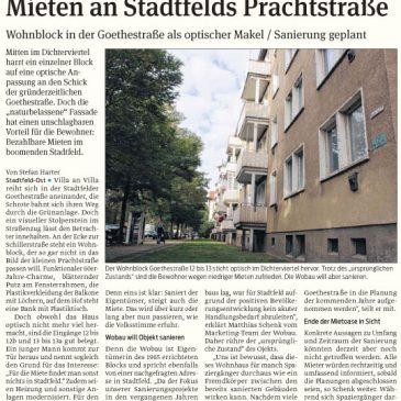 Wohnblock in der Goethestraße als optischer Makel / Sanierung geplant