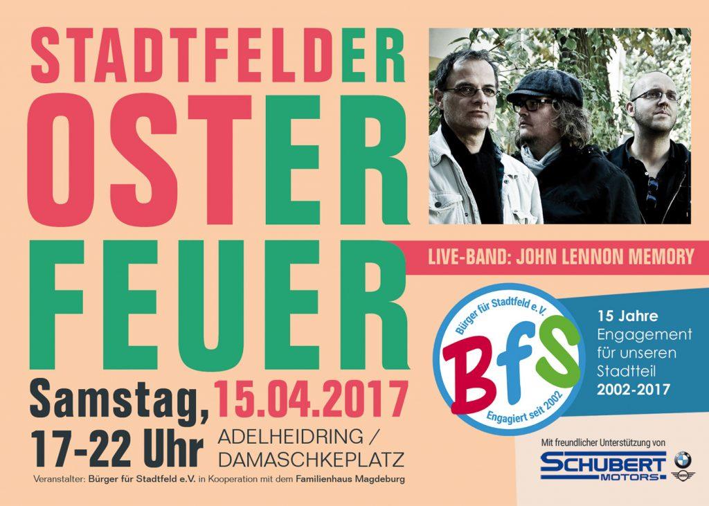 Bürgerverein startet mit Stadtfelder Osterfeuer ins Jubiläumsjahr