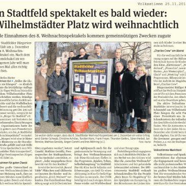 Wilhelmstädter Platz wird weihnachtlich: Alle Einnahmen kommen gemeinnützigen Zwecken zugute