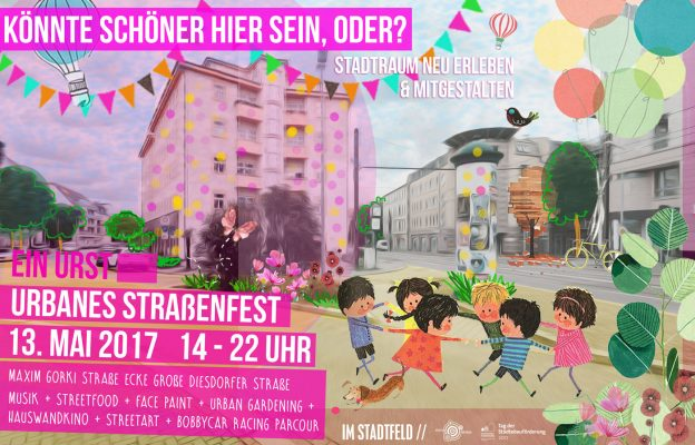 """""""Urst urbanes Straßenfest"""" zum Tag der Städtebauförderung am 13. Mai in der Gr. Diesdorfer Straße / Ecke Maxim-Gorki-Straße"""
