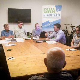 GWA-Versammlung 05/2017 u.a. mit dem Thema Bäume in Stadtfeld