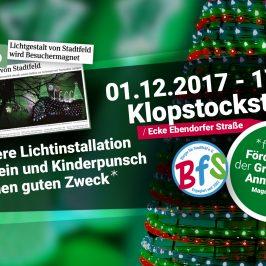 Weihnachtliche Lichtinstallation wird am 01.12. mit Glühweinverkauf für einen guten Zweck in Betrieb genommen
