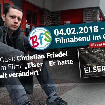 BfS-Filmabend mit Christian Friedel am 04.02.2018 im OLi-Kino