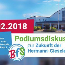 Einladung zu Podiumsdiskussion zur Zukunft der Hermann-Gieseler-Halle am 13.02.2018