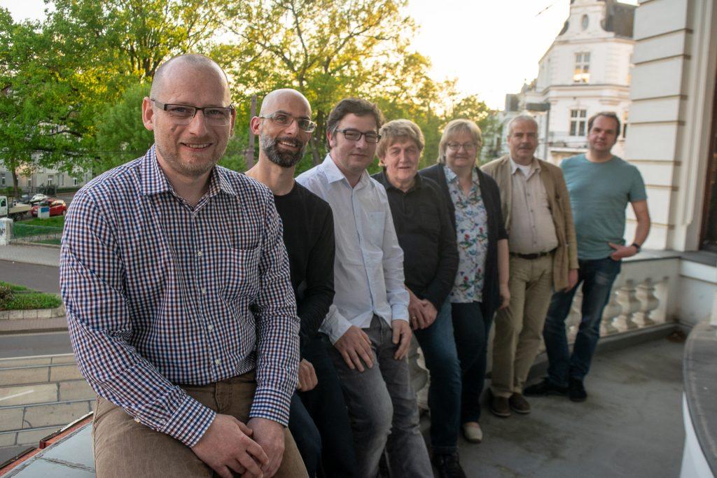 Matthias Küster, Maik Lampe, Thomas Opp, Jürgen Canehl, Sabine Neumeister, Uwe Thal und Matthias Callehn (v.l.n.r.)