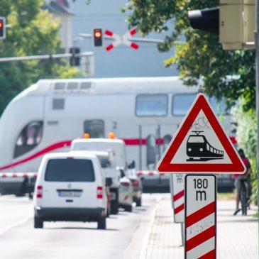 Bahnübergang in der Beimsstraße