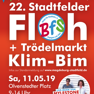 """Bürgerverein lädt am 11.05. zum Stadtfelder Floh- und Trödelmarkt """"Klim-Bim"""""""