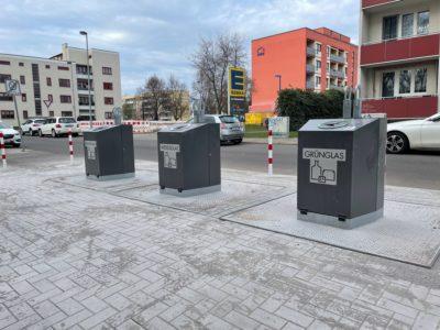 Neue Unterflurcontainer am Olvenstedter Platz
