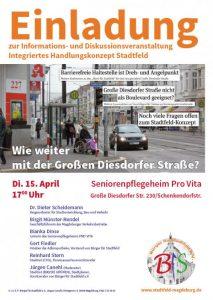 Veranstaltung zum Integrierten Stadtentwicklungskonzept Stadtfeld - Der BfS lädt zur Bürgerversammlung am 15.04.2014 ein