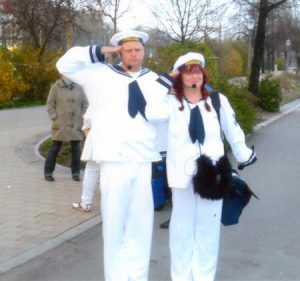 Nadja Gröschner und Frank Kornfeld bei der Hafenführung